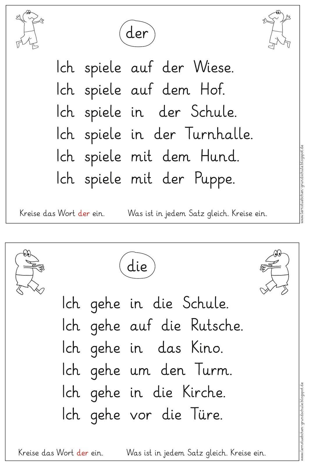 Lernstübchen: zwei Leseblätter für die besondere Förderung | Deutsch ...