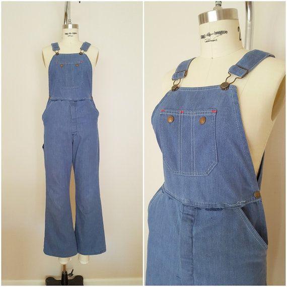 Vintage 1960s Overalls Denim Overalls By Thriftyvintagekitten Overalls Vintage Vintage Pants Vintage Jeans