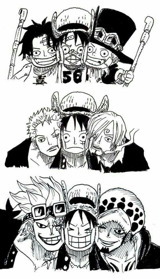 Ace Luffy Sabo Zoro Sanji Kid Law Funny Young Childhood
