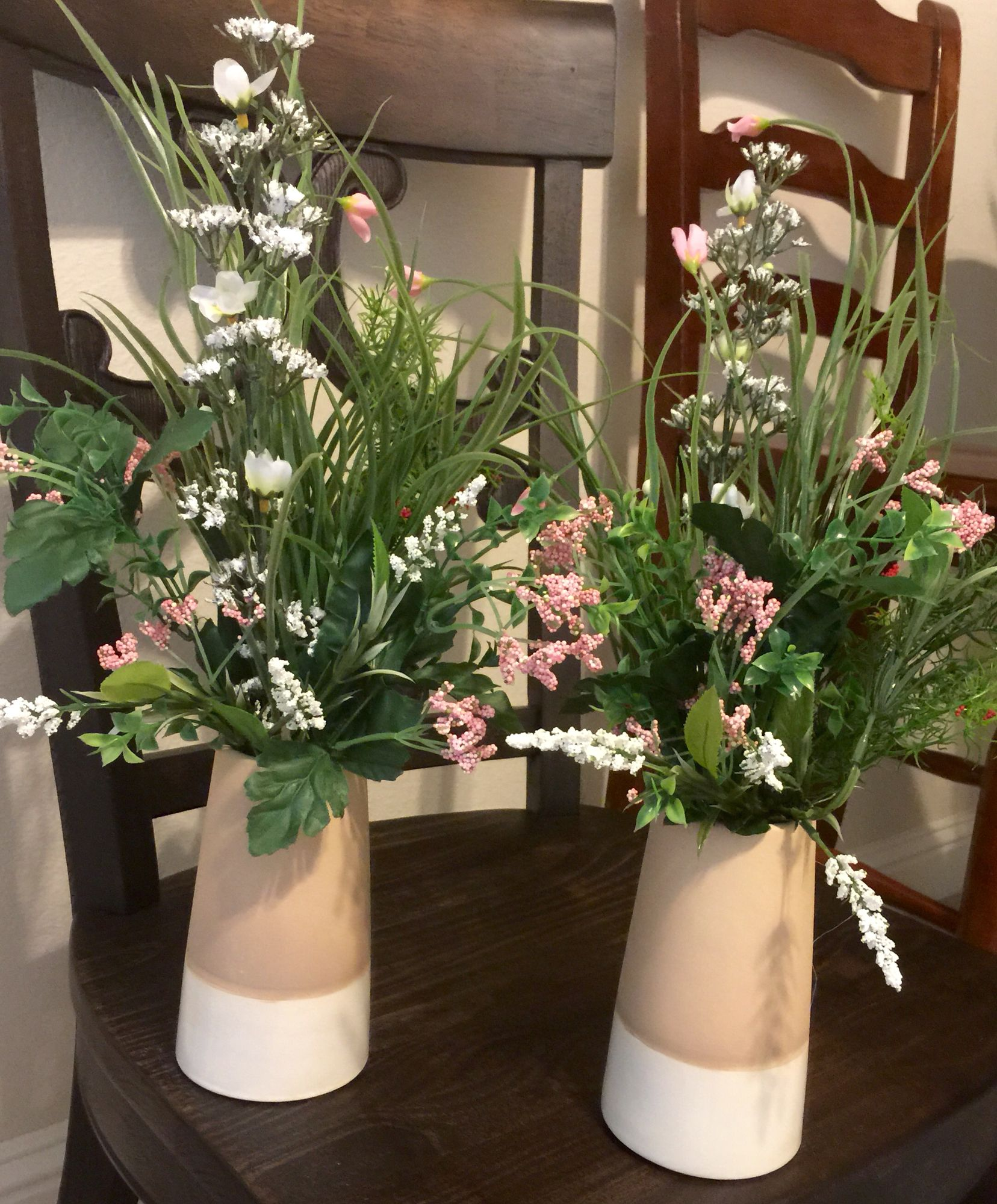 These are two more arrangements my friend Jeniffer made ...
