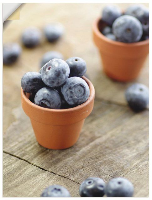 Photo of Compre Artland Premium Wall Foil, lámina de pared »Tanja Riedel: Fresh Blueberries« en línea OTTO
