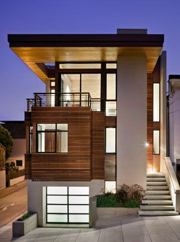 Contemporary House Design With Cozy Interior On Sloping Site Contemporary House Design Modern House Design Modern House