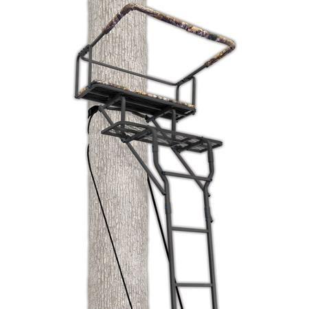 Ameristep 15 Two Man Ladderstand W Realtree Ap Seat Walmart 89 Tree Stand Hunting Tree Stand Ladder Tree Stands