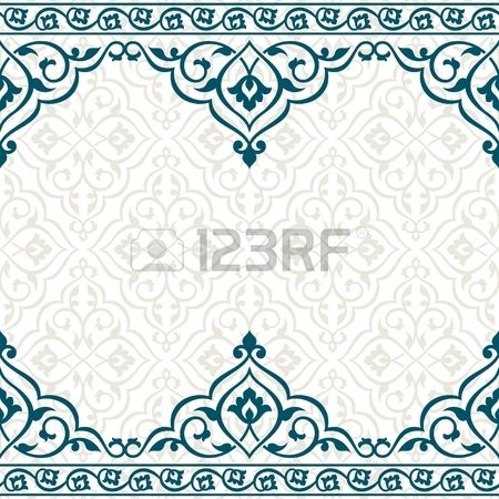 Vintage invitation card with persian pattern. 10 eps.