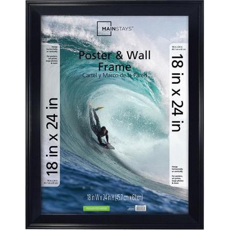 Mainstays 18x24 Casual Poster and Picture Frame, Black | Walmart ...