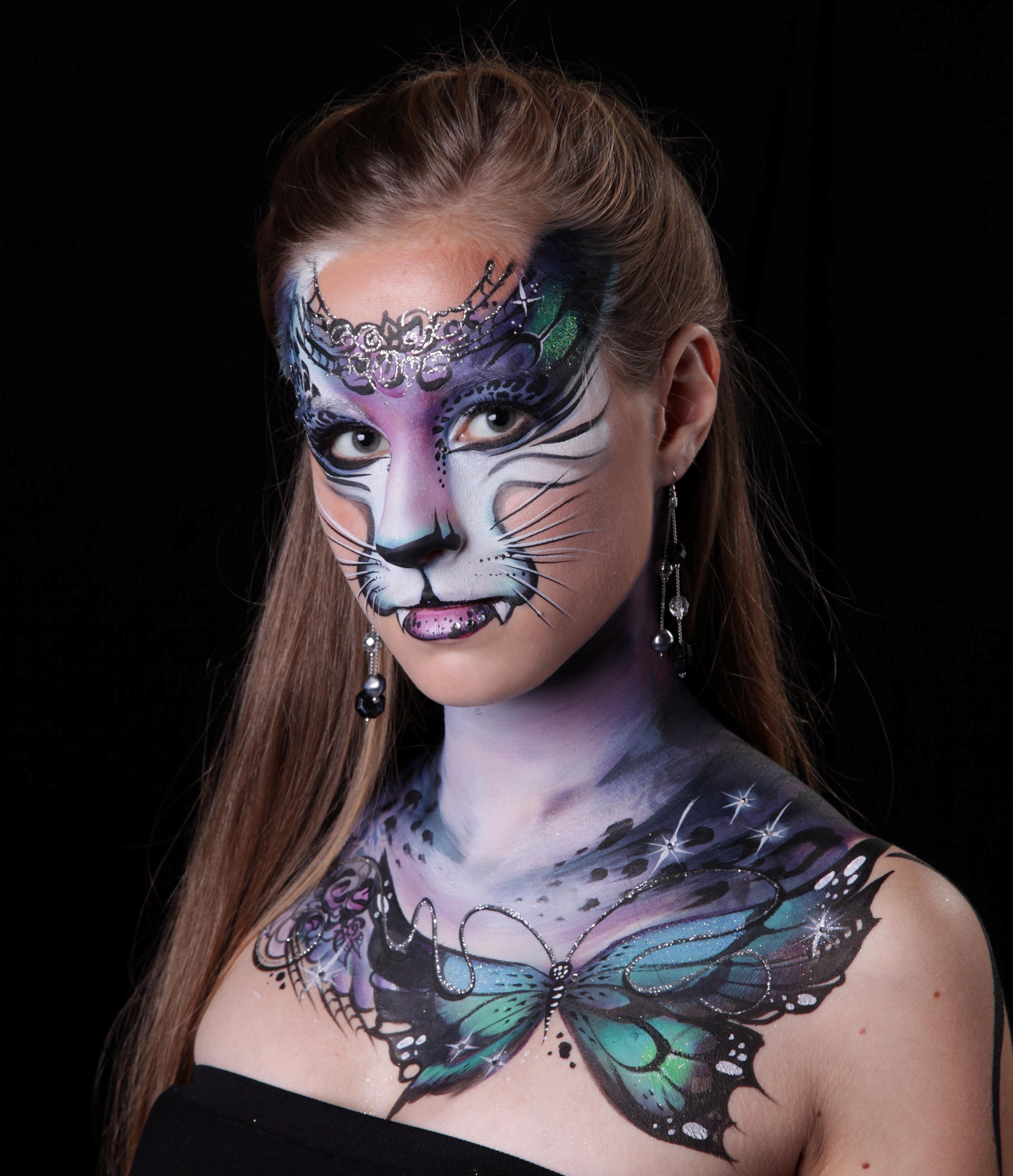 Картинки боди-арта на лице