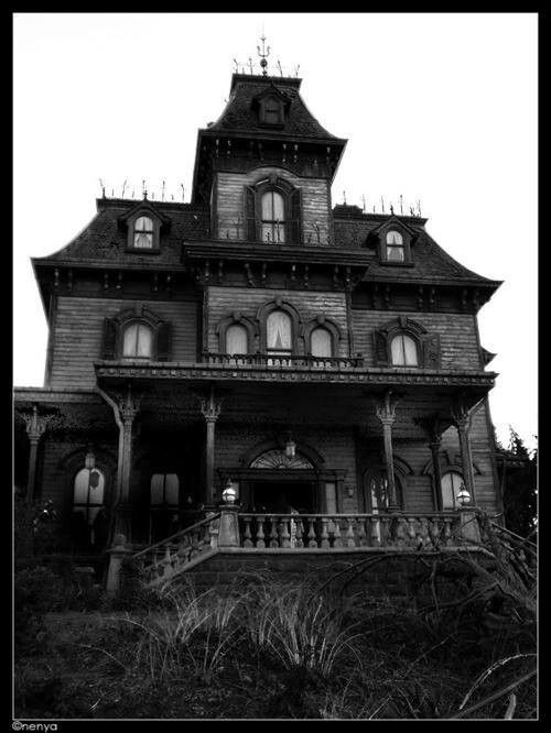 Manor House Drawing: Addams Family House, Haunted
