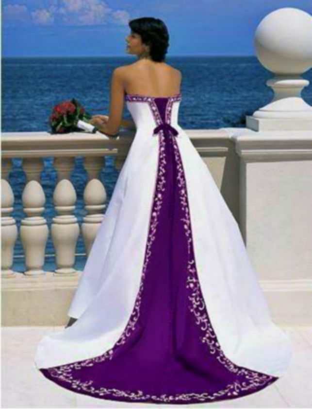 dark-purple-wedding-dress-8 | Cinderella\'s Colorful wedding ...