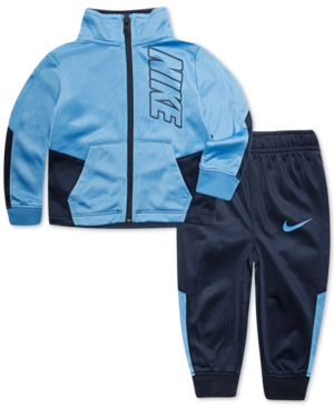 1a23284f54 Nike Toddler Boys 2-Pc. Slant Colorblocked Track Suit Set - Blue 3T ...
