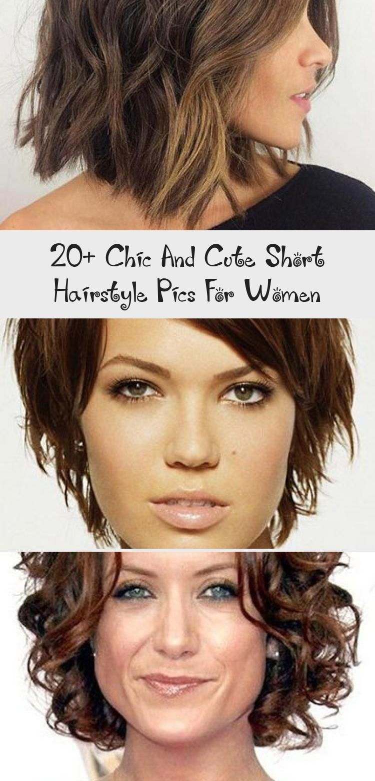 20 Chic And Cute Short Hairstyle Pics For Women Hair Styles Chic Cute Hair Hairstyle Pics Cute Hairstyles For Short Hair Hair Pictures Womens Hairstyles