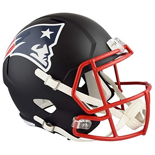 Amazon Com Unsigned New England Patriots Flat Matte Black Full Size Speed Replica Helmet Stock 1480 New England Patriots New England Patriots Football Helmet