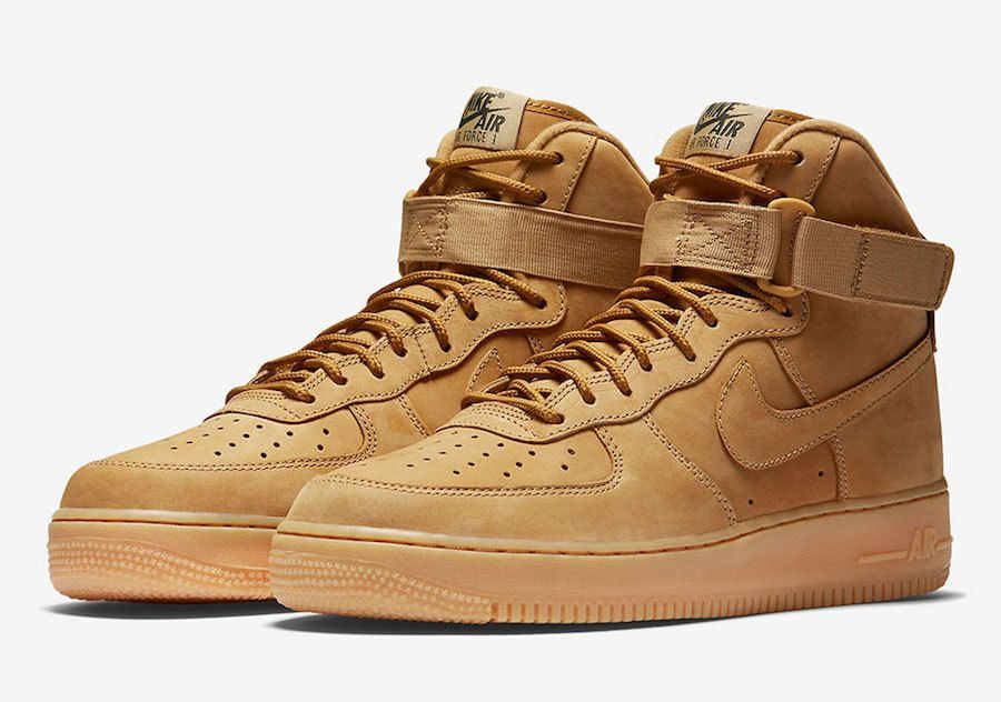 Details about NIKE AIR FORCE 1 HIGH FLAX WHEAT OUTDOOR