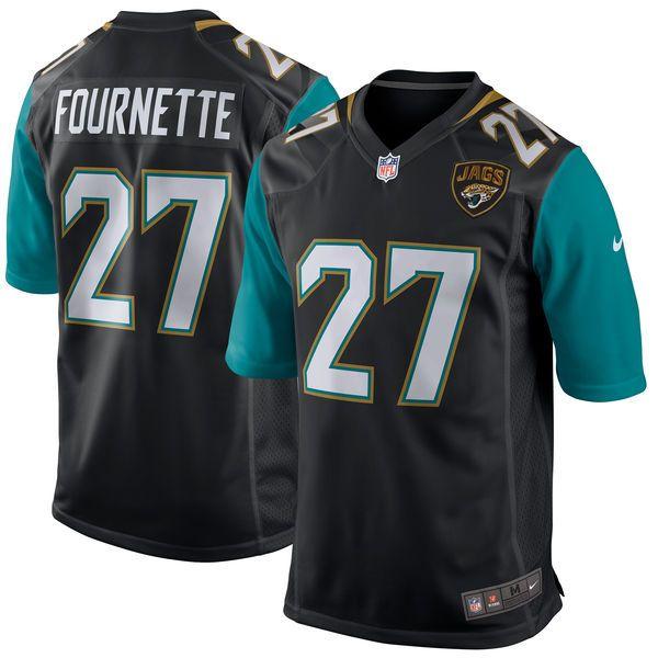 f525b791d Men s Jacksonville Jaguars Leonard Fournette Nike Black 2017 Draft Pick  Game Jersey