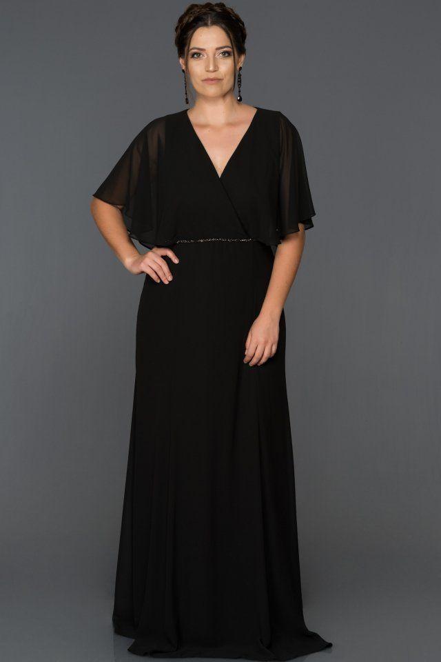 Siyah V Yaka Buyuk Beden Abiye Ab4369 Abiyefon Com The Dress Elbise Elbiseler
