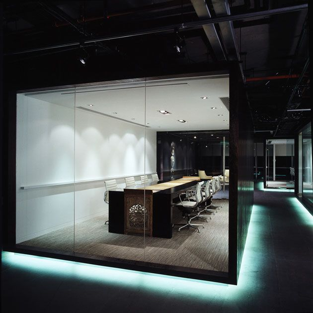 Dark dark ogilvy mather beijing robarts interiors for Most innovative office spaces