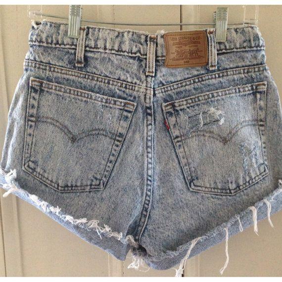 Vintage Acid Wash Denim shorts  on Etsy, $18.00