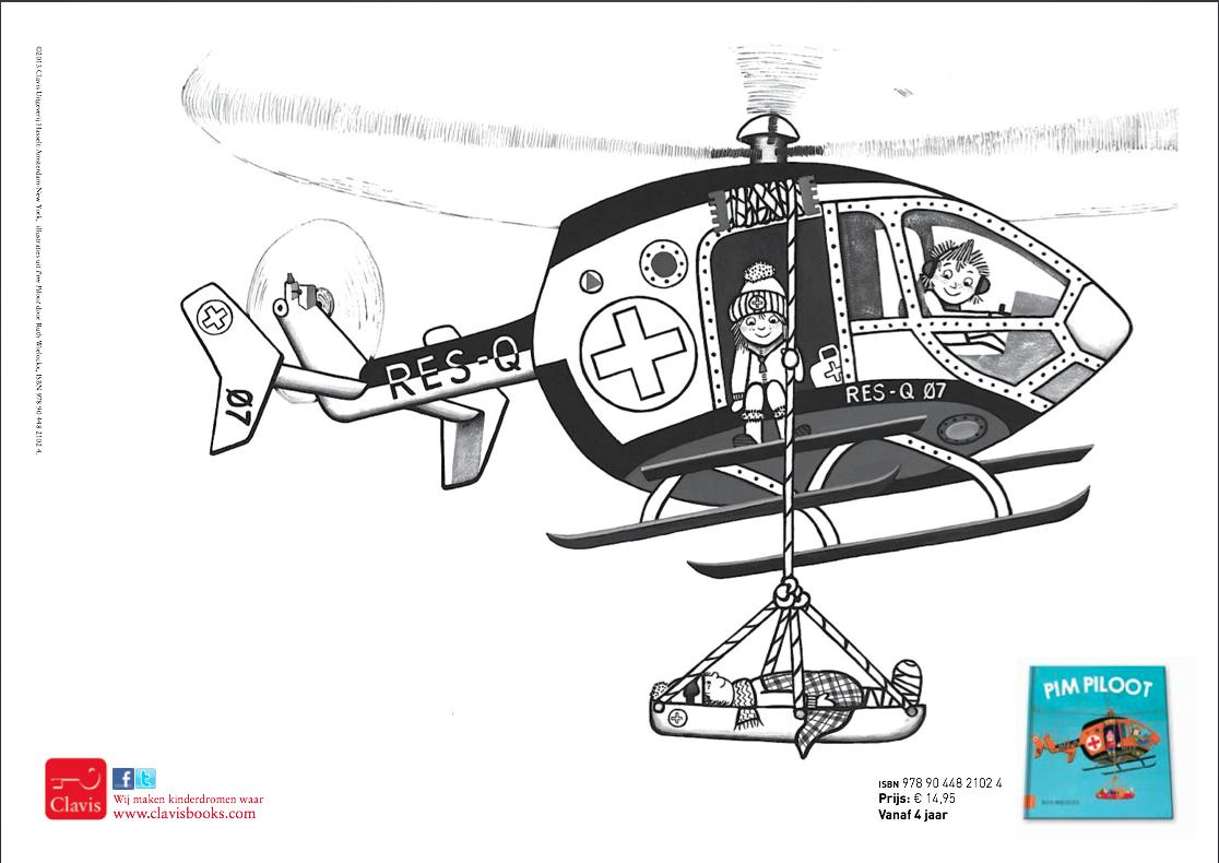 Kleurplaat Van Het Helikopter Uit Pim Piloot Zie Ook