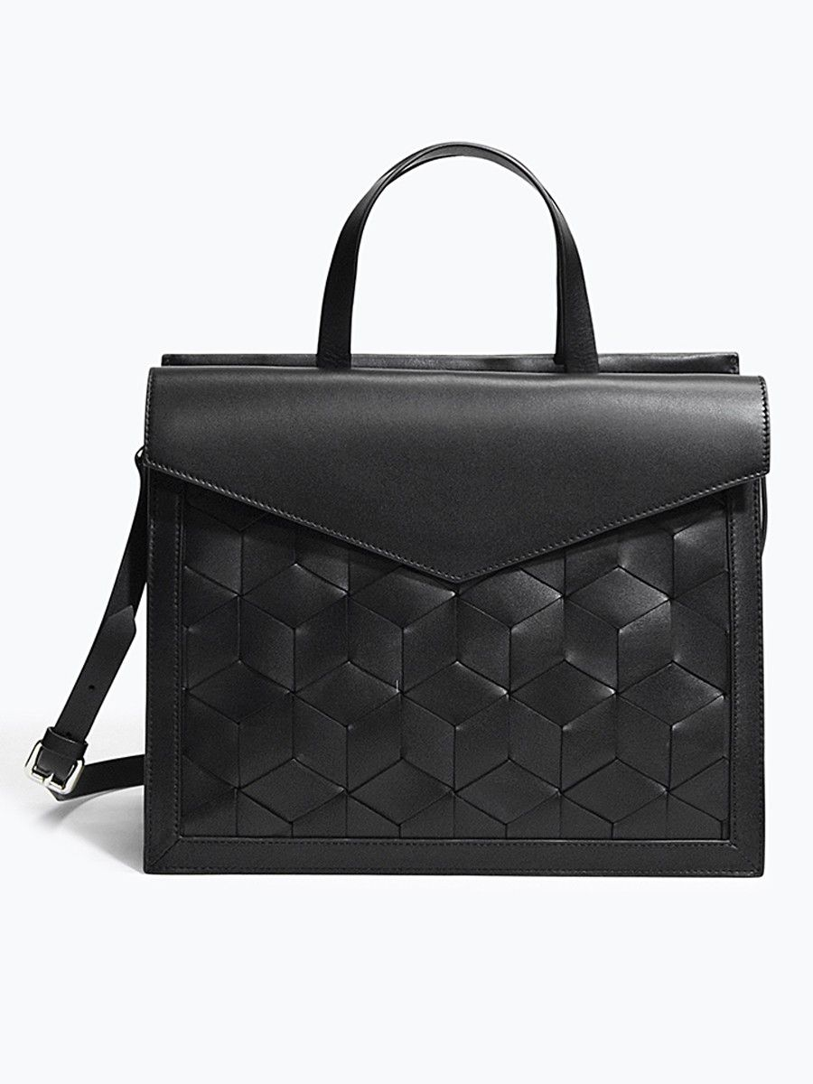 Voyager Flap Satchel Bag in Black - Luxury Bags | Welden ...