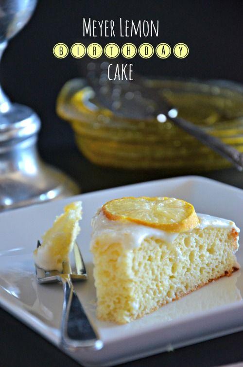Meyer Lemon Cake with Greek Yogurt