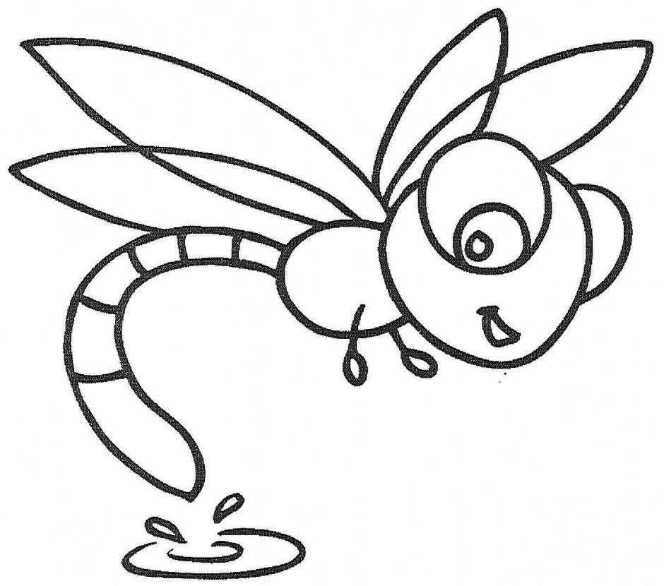 Download Simple Dragonfly Animal Coloring Page Or Print Simple ...