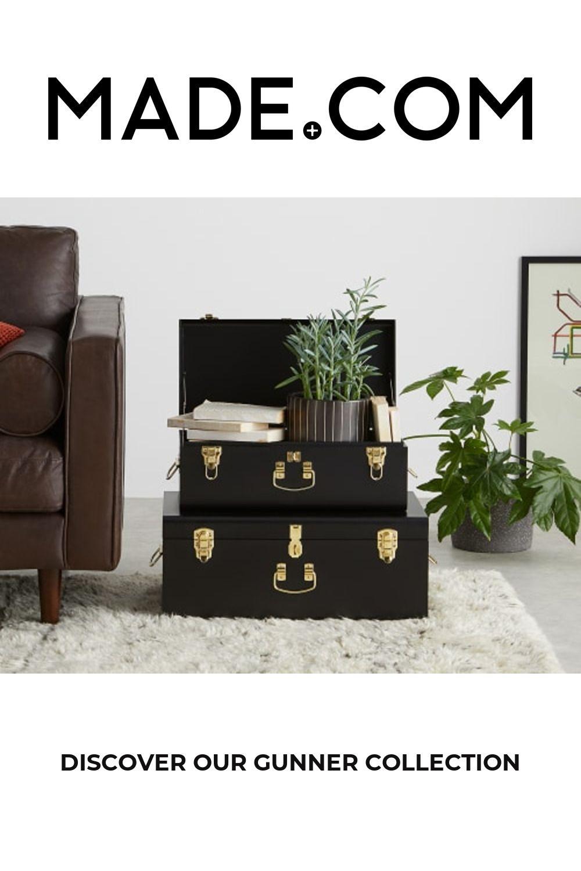 Made Matt Black Brass Storage Box In 2020 Metal Trunks Decorative Storage Trunks Decorative Storage Boxes #storage #trunks #for #living #room