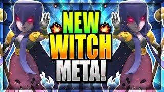 New Witch Buff Is Insane Undefeated New Witch Deck Clash Royale