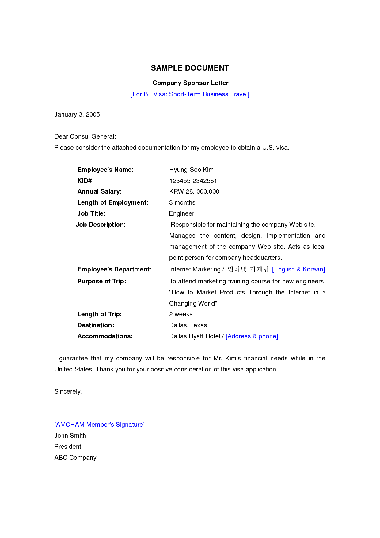 Sample Employment Letter For Uk Visitor Visa 4