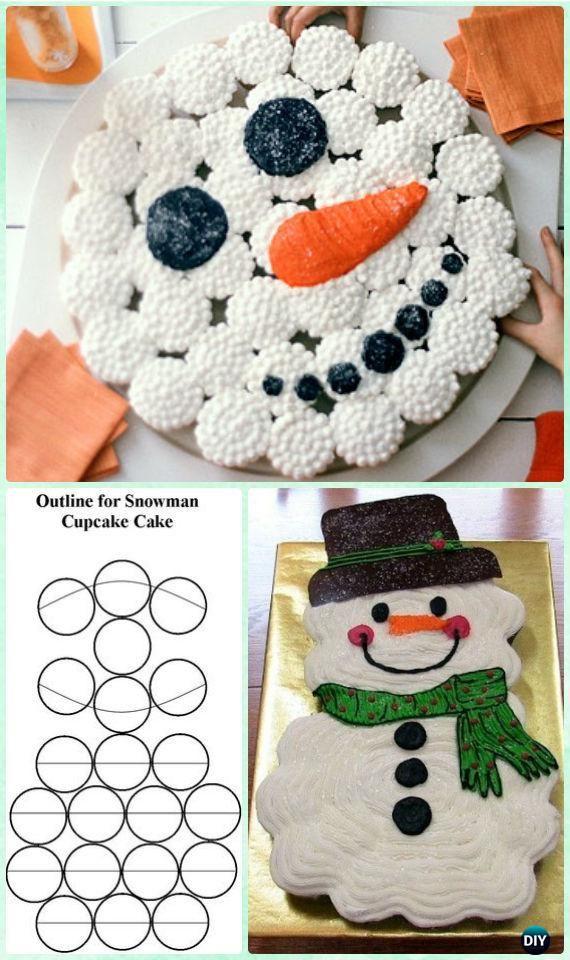 7 Tage Weihnachten Cupcake Cake Design auseinander ziehen #cupcakecakes
