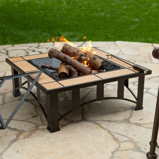 This Is The One I Have Im Addicted To Fire Pits I Want To Get More Square Fire Pit Fire Pit Wood Fire Pit