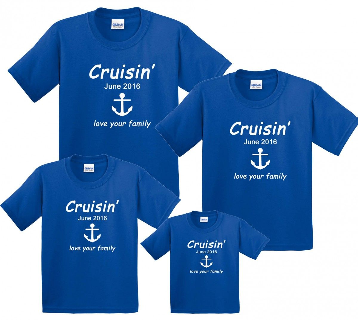 def2f4b3 Cruise Vacation Family Matching T-Shirts Personalized |  FootstepsClothing.com
