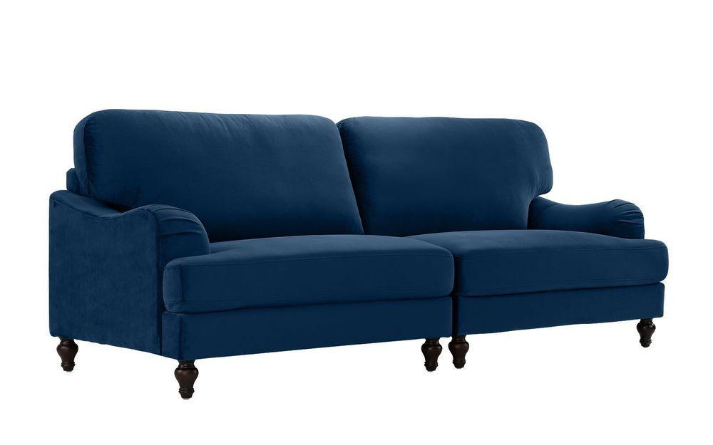 Elegant Linen Futon Wooden Legs Splitback Soft Sofa Bed Couch ...