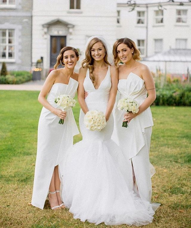 Gorgeous #bridesmaids in our Stellina Dress #whiterunway #realrunway ...