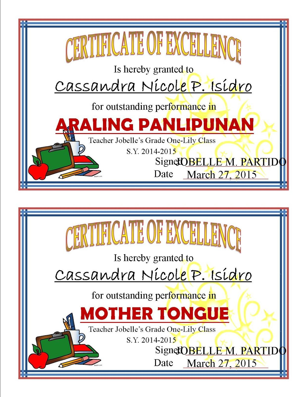 Pin On Awards Certificates Template