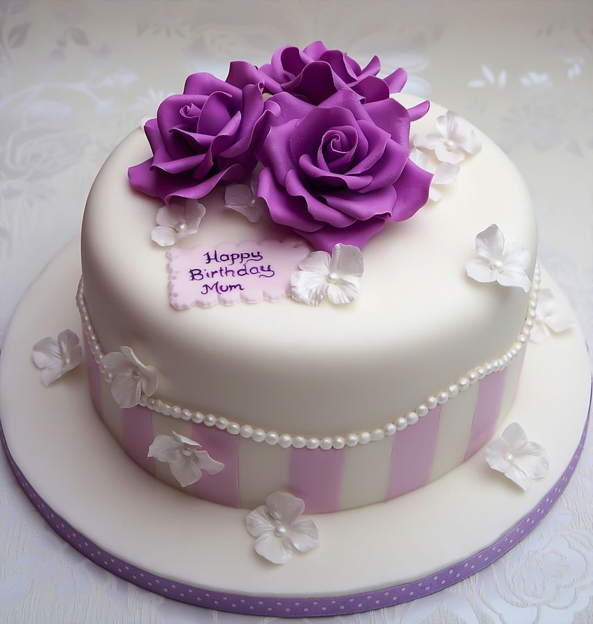 Vintage Birthday Cake Cake MakingDecorating Ideas
