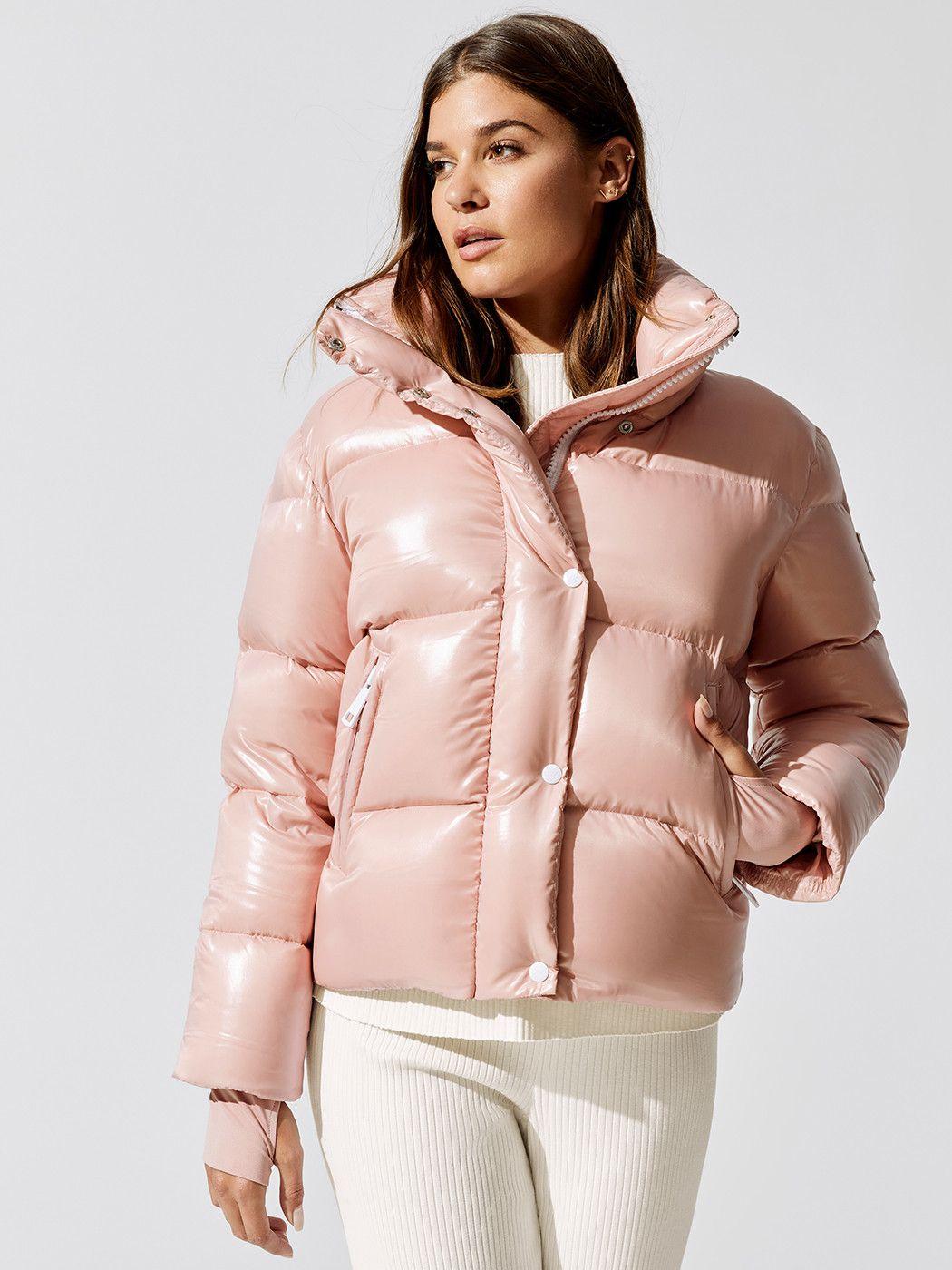 Mia In Blush By Sam From Carbon38 Puffer Jacket Women Celebrity Jackets Winter Jackets Women [ 1400 x 1050 Pixel ]
