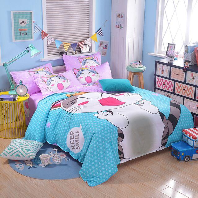 sweet home linge de lit Accueil Textile Sweet Home Chat Ensemble de Literie Bande Dessinée  sweet home linge de lit