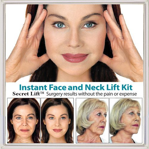 Secret lift instant face and neck lift dark hair facelift tapes secret lift instant face and neck lift dark hair facelift tapes and bands solutioingenieria Choice Image