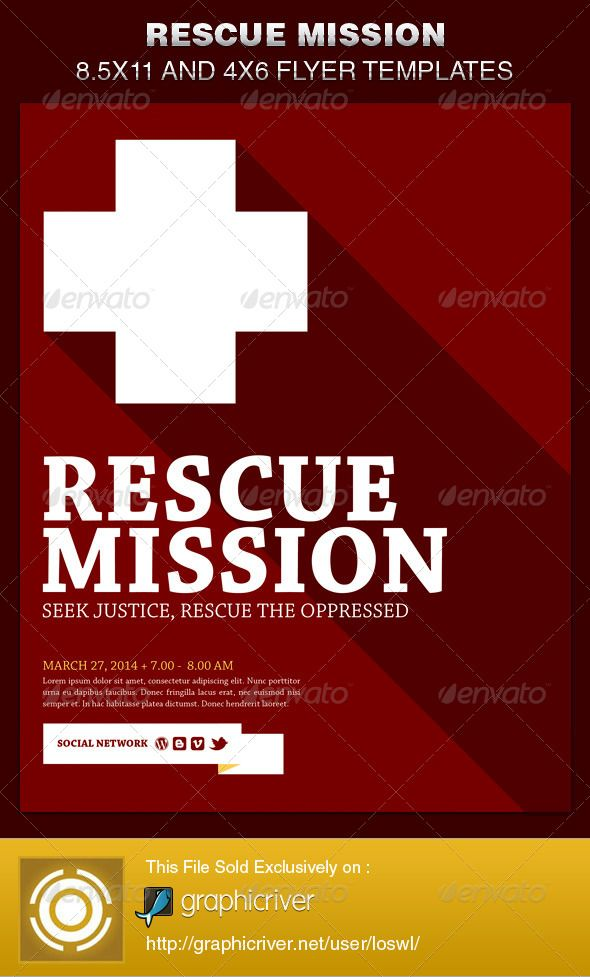 Rescue Mission Church Flyer Template Flyer Template Template And