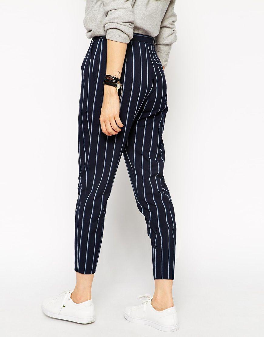 ASOS | ASOS Printed High Waisted Peg Trouser at ASOS