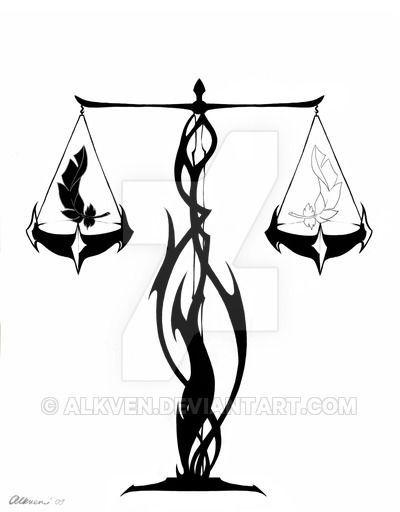 Tribal Libra By Alkven On Deviantart Zodiac Tattoos Symbolic Tattoos Libra Symbol