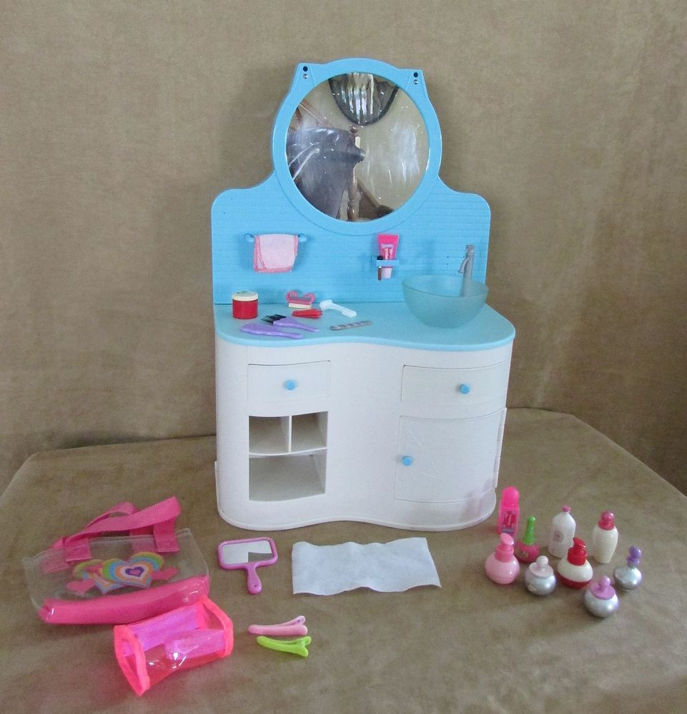Bathroom Vanity for Dolls American Girl sink light Lot ...