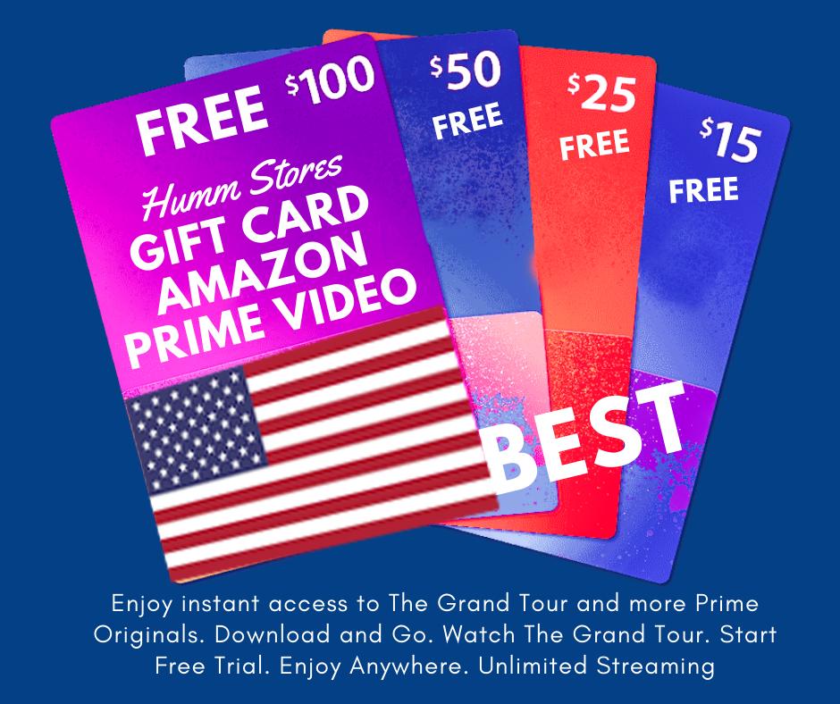 Gift Card Amazon Prime Video Free Amazon Products Amazon Prime Video Gift Card