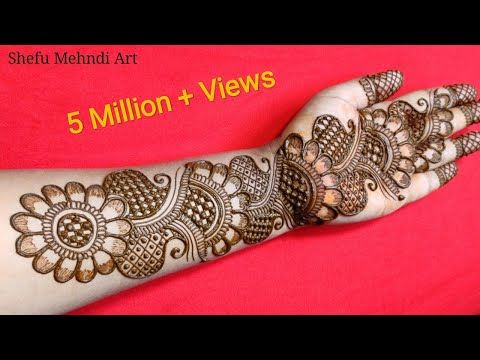New full hand bridal arabic mehandi design | simple arabic mehndi designs for front hands | mehandi - YouTube