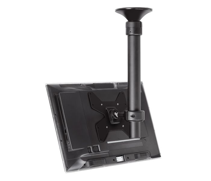 Ceiling Mounted Tv Bracket That Swivels Tilts Telescopes And Has