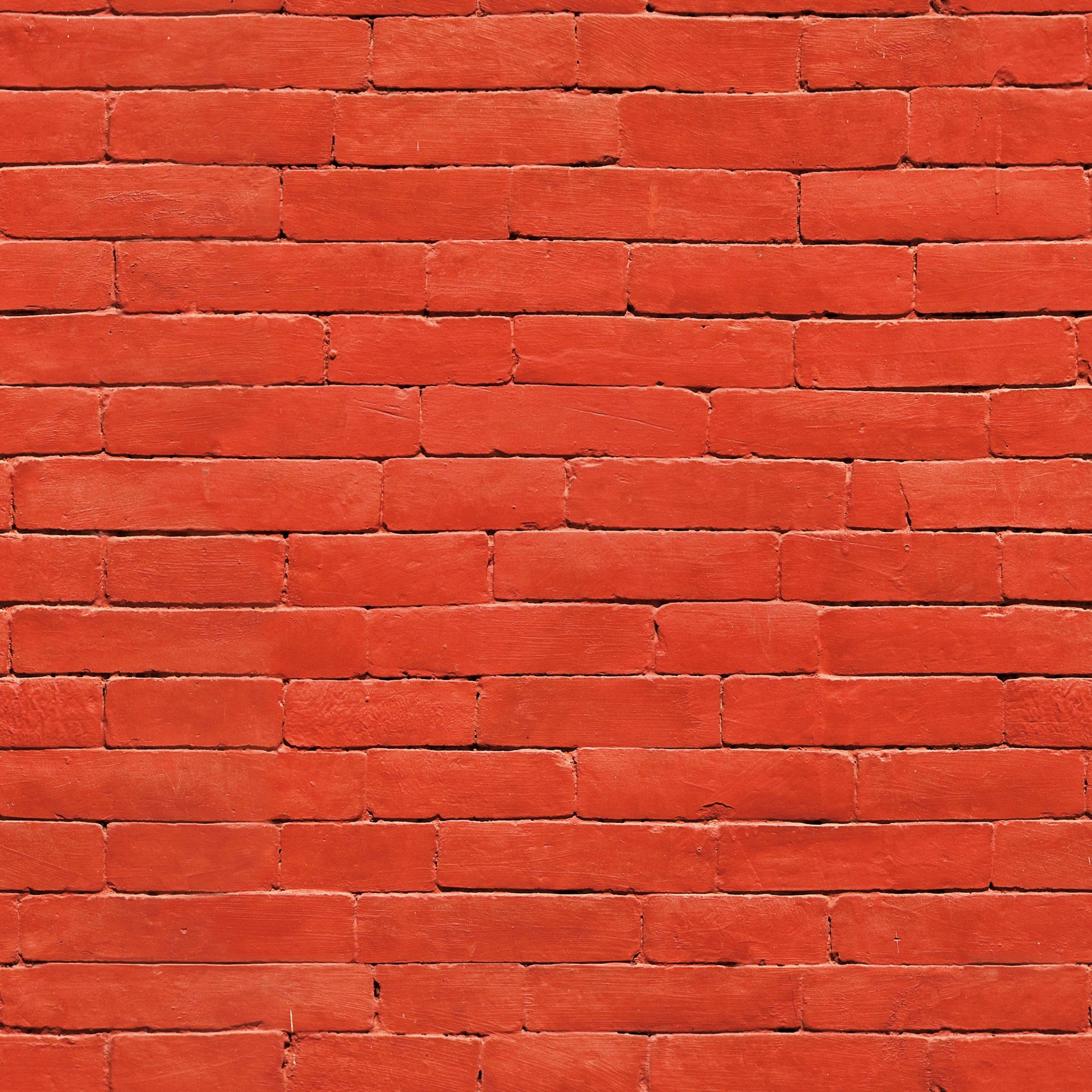 Painted Red Brick Wall Seamless Texture