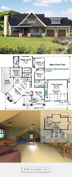 Plan 14571RK Dazzling Vaulted Great Room Exposed trusses Outdoor