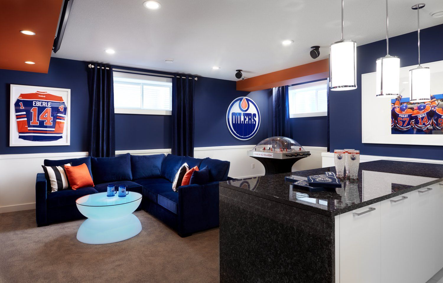 Man Cave Bondi : Coventry homes oilers fan cave bar in paisley showhome edmonton