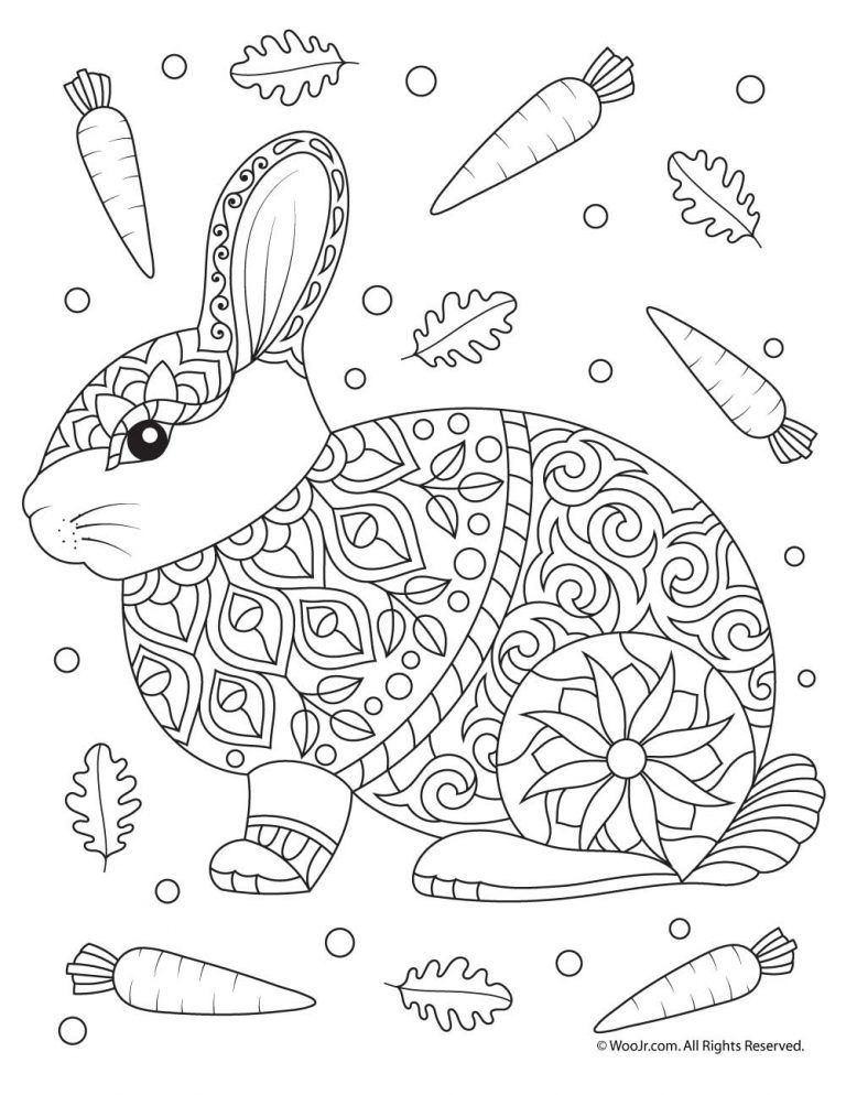 Fall Animal Adult Coloring Pages Coloring Pages Easter Coloring
