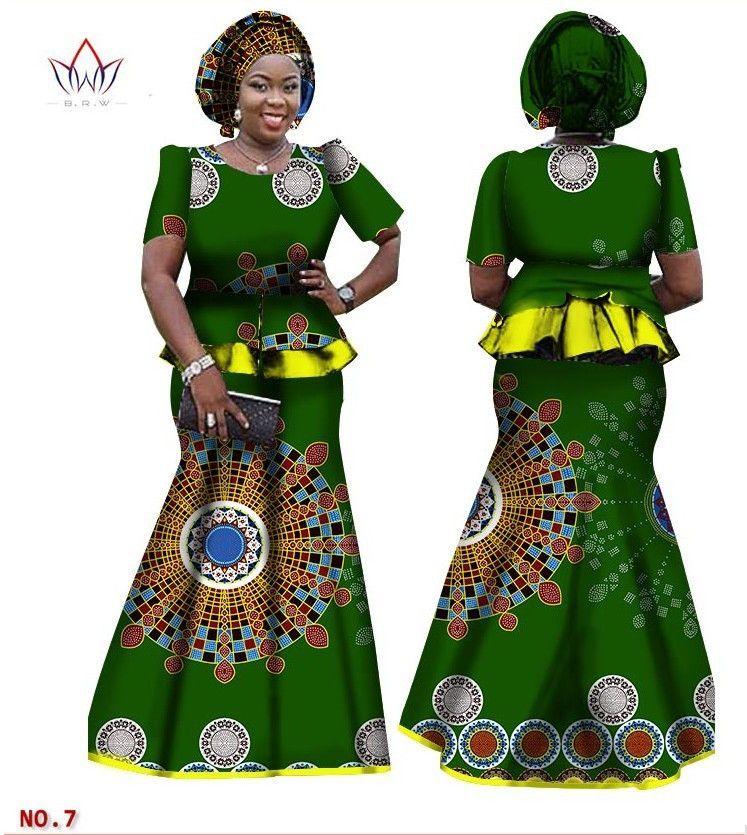 African Women Skirt and Blouse eebdb4a87803