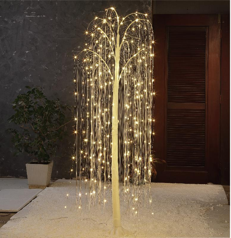 Holiday Time 6ft Twinkle Willow Tree Walmart Com Outdoor Christmas Lights Front Porch Christmas Decor Willow Tree